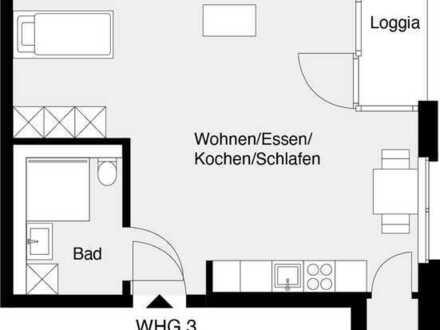 Besichtigung samstags 11 - 12 Uhr; gemütliche 1-Zimmer-Wohnung für Senioren (Whg. 3)