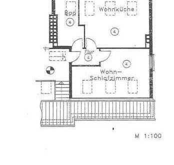 2-Zimmer-DG-Wohnung mit Küchenzeile in Bremen