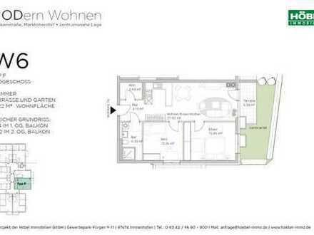 Barrierefreie 3 Zimmer mit 72,22 m² und Garten