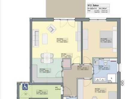 3-Zi.-Wohnung mit EBK und großem Balkon