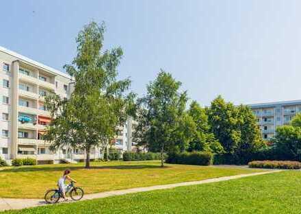 Kleine, renovierte 3-Raum-Wohnung mit Balkon & Blick ins Grüne