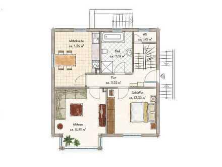 ++EG-Wohnung in Lohr ab 01.08. zvm., 2 Zi., 56qm, Stellplatz++