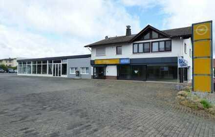 Große Kfz-Werkstatt, Ausstellung, Büro und Wohn-und Geschäftshaus in Frankenau. Provisionsfrei