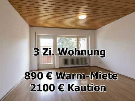 ab sofort - 3 Zimmer Wohnung - 61m² - Balkon - in Bisingen