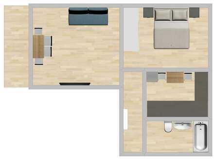 Stilvolle, neuwertige 2-Zimmer-Wohnung mit Balkon und Einbauküche in Metzingen