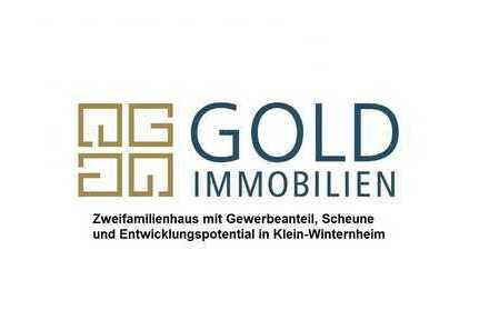 GOLD IMMOBILIEN: Zweifamilienhaus mit Gewerbeanteil, Scheune und Entwicklungspotential