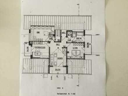 4-Zimmer-Wohnung, neuwertig, komplett möbliert, mit drei Balkone und EBK in Oberstaufen