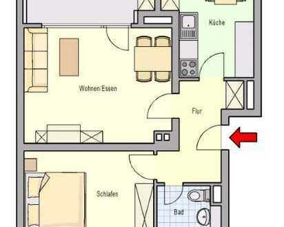 Frisch sanierte 2-Raum-Wohnung mit Tageslichtbad in gepflegtem Wohnpark