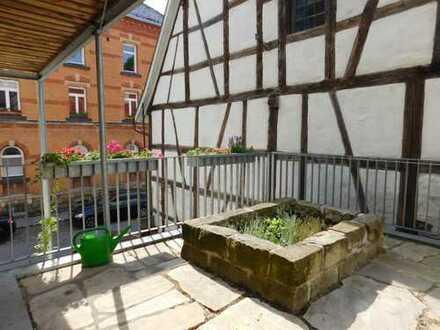 Wohnen auf Zeit in stilvoll und ökologisch saniertem Altstadtfachwerkhaus mit eigener Dachterasse,