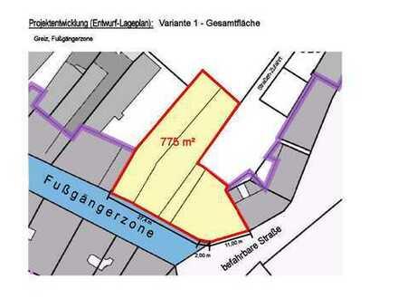 Büro-/Praxisflächen 750 m²-1.500 m² projektiert im 1.+2.O G(teilbar) in 07973 Greiz-Zentrum/Thür.