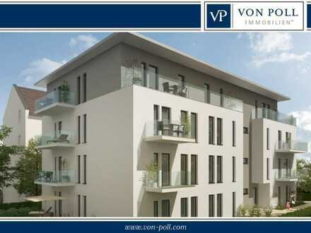Moderne sonnige Vier-Zimmer-Wohnung mit zwei Balkonen