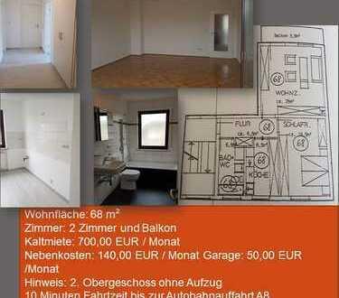 Sanierte 2-Zimmer-Wohnung mit Balkon in Augsburg