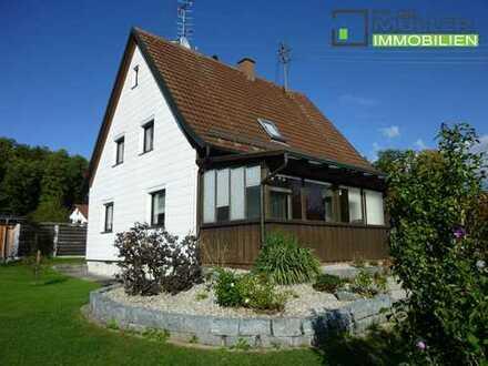 #Schnuckeliges Einfamilienhaus mit schönem Garten in der Nähe von Krumbach#