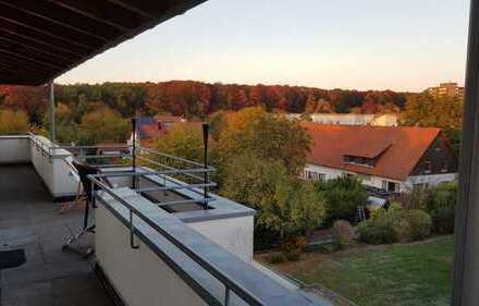 Stilvolle 3-Zimmer-Dachgeschosswohnung mit Rundum-Balkon und EBK