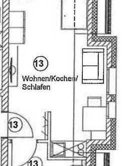 Kompakte Einzimmerwohnung 25m² - Erstbezug - W13