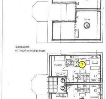 Dachgeschoss Maisonette, am Zentrum
