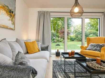 Moderne, lichtdurchflutete Doppelhaushälfte mit schönem Garten