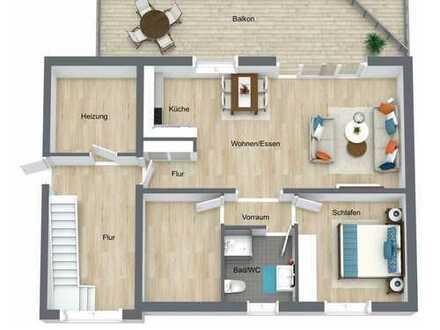 Unser Objekt des Monats - Neubau 3 Zimmer DG-Wohnung mit Dachterrasse u. Stellplatz