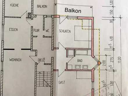 Wohnung mit vier Zimmern und Balkon in Wäschenbeuren