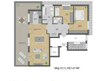 Luxus-Penthouse mit Panorama-Dachterrasse