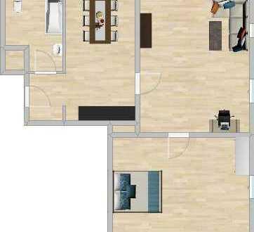 Schöne 2,5-Zimmer-Wohnung, Erstbezug nach Modernisierung