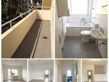 ***KLINIKVIERTEL-Gepflegte Wohnung mit Laminat, Fliesen, neuem Wannenbad mit Fenster & Westbalkon***