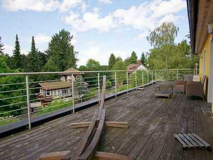 ++Riesenbalkon, Terrasse + Garten für Naturliebhaber + Ruhesuchende++