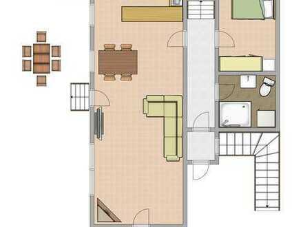 Helle 3-Zimmer-Erdgeschosswohnung mit Garten und EBK in Legau