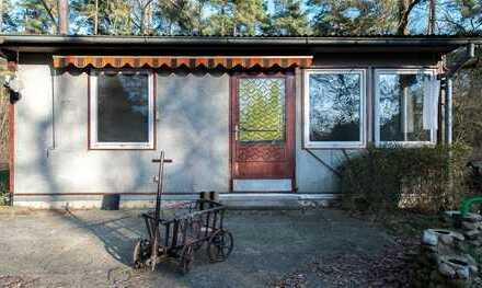 Heinze-Immobilien(IVD): Ruhig gelegener Ferienbungalow zur Miete in Rüdnitz bei Bernau (07)