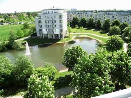 1,5 Zi. mit Aufzug und Blick auf den kleinen See, grüne und gepflegte Wohnanlage
