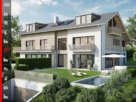 Absolut ruhiges Grundstück mit Baugenehmigung und Planung für eine großzügige Doppelhaushälfte