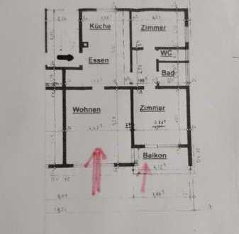 Exklusive 1-Zimmer-Erdgeschosswohnung mit Balkon und Einbauküche in Gaildorf