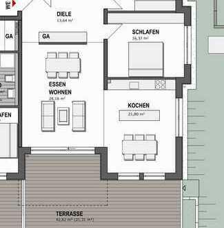Familienfreundliche 3,5 Zimmer Wohnung mit großzügiger Terrasse