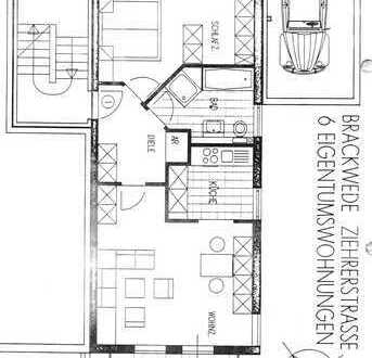 Gepflegte 2-Zimmer-Erdgeschosswohnung mit Balkon in Bielefeld