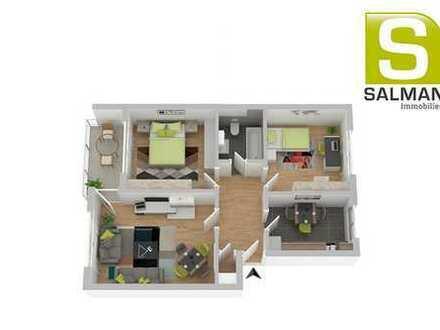 +++Moderne 3-Zimmerwohnung mit Balkon und großem Gemeinschaft-Sonnengarten.+++