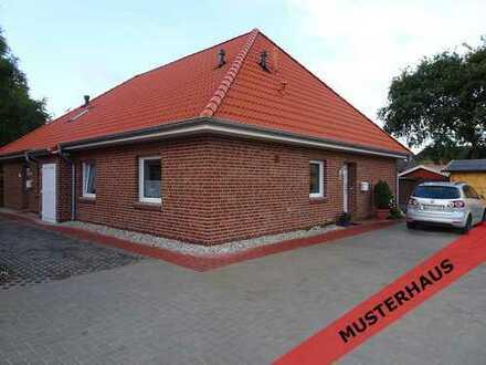 Neubau Bungalow-Doppelhaushälfte (links)