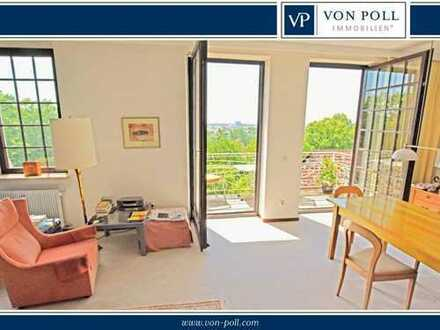 Burgberg: Traumhafte Altbauwohnung mit Panoramablick