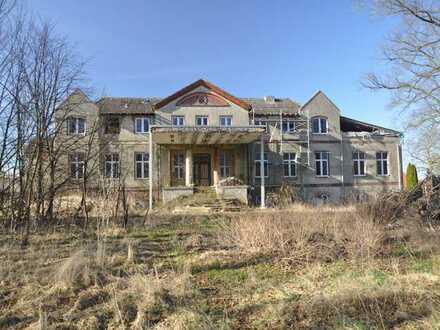 Sanierungsbedürftiges Gutshaus mit Nebengebäuden auf großem Grundstück