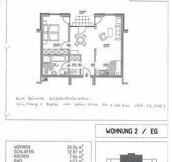 Moderne helle 2-Zimmer-Single-Wohnung mit EBK, Bad, Südterrasse, Carport in Dannenberg/Elbe