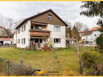 Großzügige, helle 3-Zi.-ETW mit Balkon und Garage in einem 3-Fam.-Haus in ruhiger Lage von Kempten