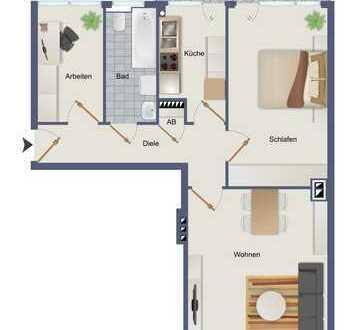 Zentraler geht es nicht! Helle 3 Raum Wohnung mit Balkon am HBF