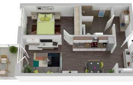!2 Zimmer! Fußbodenheizung, Aufzug, großer Balkon! Ruhig wohnen, perfekt angebunden