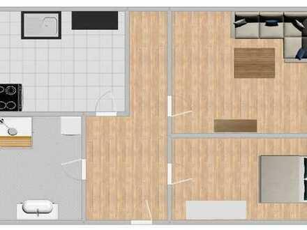 Freundliche, vollständig renovierte 2-Zimmer-Wohnung zur Miete in Hartha