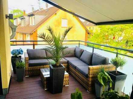 Stilvolle 3-Zimmer-Maisonette-Wohnung mit Balkon und Einbauküche in Mülheim an der Ruhr