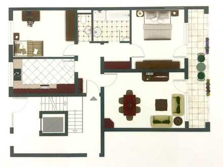 Ohne Makler, Exklusive, gepflegte 3-Zimmer-Wohnung mit Balkon in Aichwald