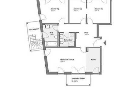 Stilvolle, top ausgestattete und möblierte 4-Zimmer-Wohnung von Privat!!