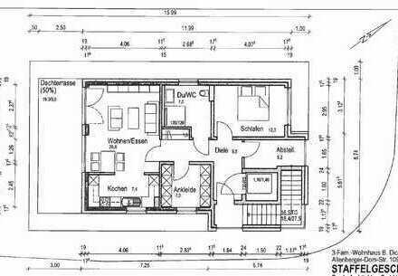 Stilvolle 3-Zimmer-Penthouse-Wohnung mit Domblick und Dachterasse in BGL - Schildgen