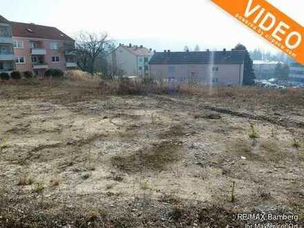 RE/MAX Bamberg: Voll erschlossenes Grundstück für Mehrfamilienhaus, Eigentumswohnungen oder Einfami