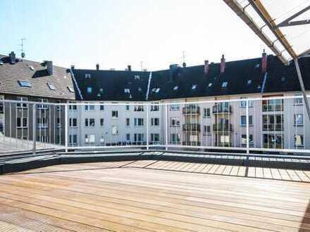 Helle Dachgeschosswohnung mit Dachterrasse - Erstbezug nach Sanierung
