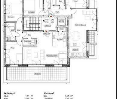 Neubau - Erstbezug: 3 Zimmer-Whg. mit Dachterrasse (27qm), Gäste-WC und Fußbodenheizung